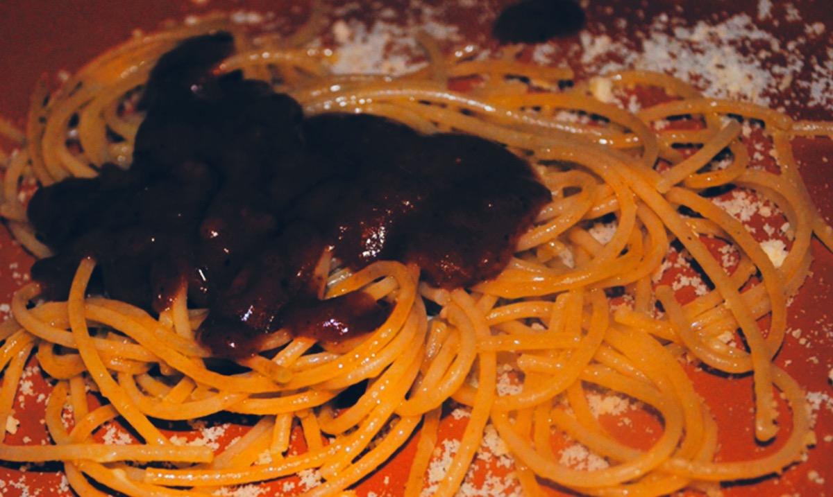 receta espaguetti al pepian guatemala - Spaguetti with Pepian Sauce