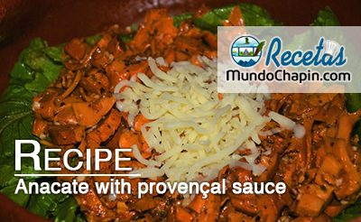 Anacate with provençal sauce - mundochapin
