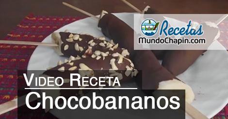 receta chocobananos - mundochapin