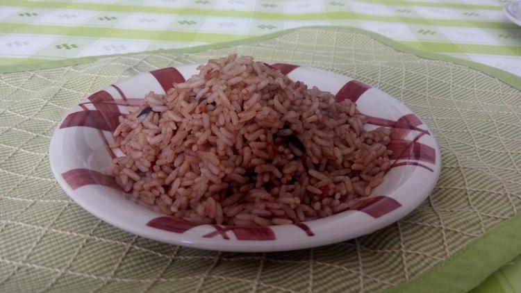 arroz con frijol 2 - Arroz con Caldo de Frijol